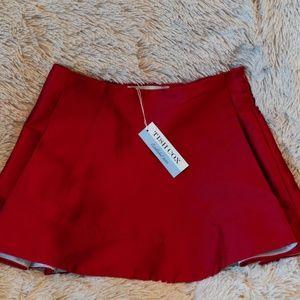 Boutique Designer Tish Cox Red Mini Skirt